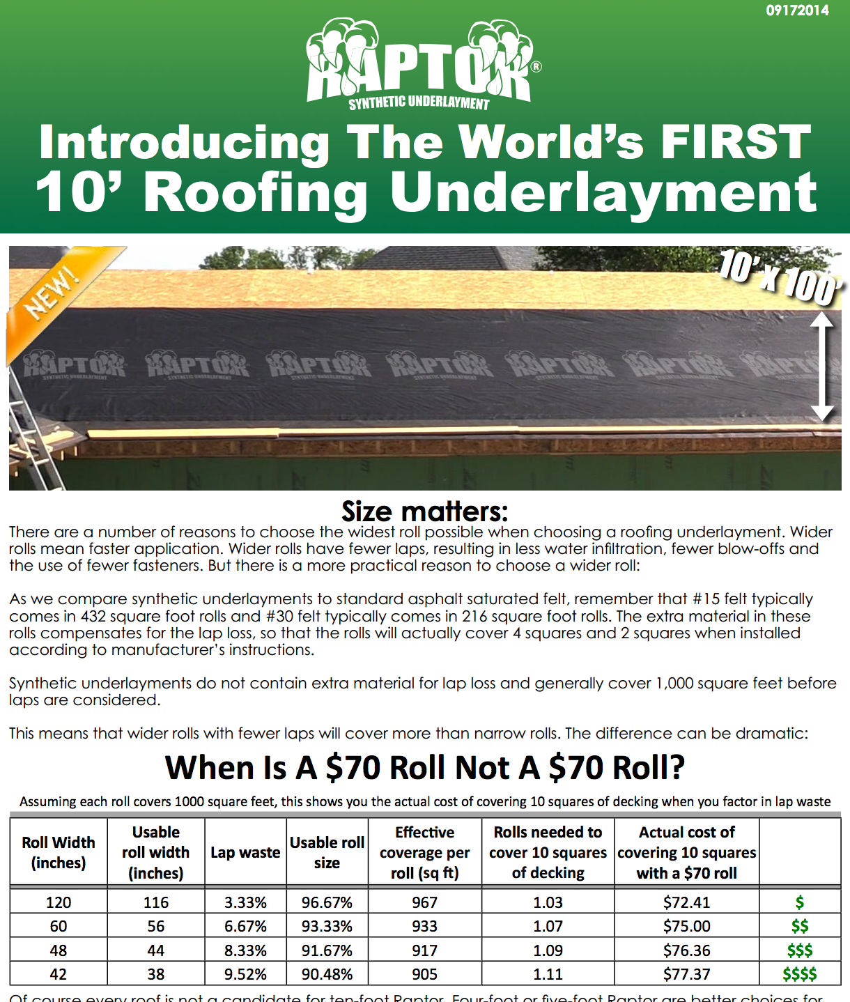 Raptor Underlayment Changing The Way Roofers Use Underlayment
