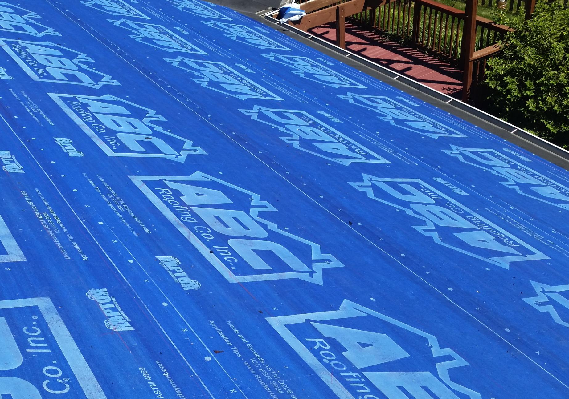 Blue ABC Roofing Raptor   Raptor Underlayment Memphite.com